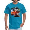 River trout t-shirt - Animal Face T-Shirt - turquoise