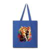 Praying Cat Tote Bag - royal blue