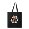 Cat with eyes Tote Bag - black
