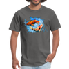 Swimming Koi Men's T-Shirt - charcoal