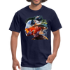 River trout t-shirt - Animal Face T-Shirt - navy