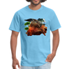 Chilling Kangaroo t-shirt - aquatic blue
