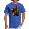 Sloth t-shirt - Animal Face T-Shirt - royal blue
