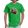Mouse t-shirt - Animal Face T-Shirt - bright green