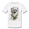 Polar bear Kid's Premium Organic T-Shirt - white
