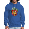 Tiger with Moon Hoodie - royal blue