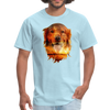 Golden Retriever Dog t-shirt - Animal Face T-Shirt - powder blue
