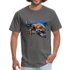 Sea Turtle T-Shirt - Animal Face T-Shirt - charcoal