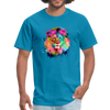 Lion with mane t-shirt - Animal Face T-Shirt - turquoise