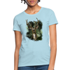 Deer with foliage Women's T-Shirt - powder blue