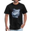 Nothern Lynx t-shirt - Animal Face T-Shirt - black
