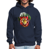 Tiger with Moon Hoodie - navy