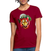 Watercolor Tiger Women's T-Shirt - dark red