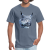 Nothern Lynx t-shirt - Animal Face T-Shirt - denim
