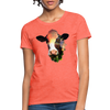 Holstein cow Women's T-Shirt - heather coral