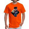 Young wolf standing T-Shirt - Animal Face T-Shirt - orange