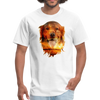Golden Retriever Dog t-shirt - Animal Face T-Shirt - white