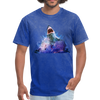Great White Shark with surfer T-Shirt - Animal Face T-Shirt - mineral royal