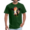 Holstein cow t-shirt - Animal Face T-Shirt - forest green