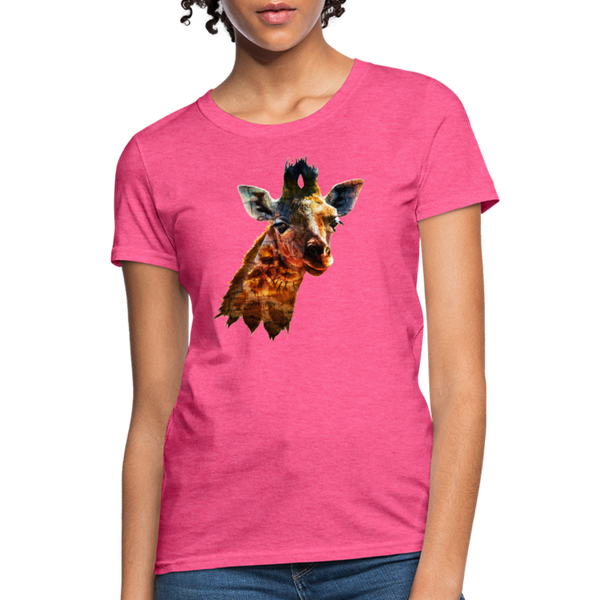 Giraffe Women's T-Shirt - heather pink