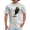 Eagle t-shirt - Animal Face T-Shirt - heather gray