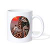 Giraffe Herd Coffee/Tea Mug - white