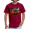 Chilling Kangaroo t-shirt - burgundy