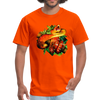 Striking tree snake t-shirt - Animal Face T-Shirt - orange