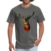 Deer t-shirt - Animal Face T-Shirt - charcoal