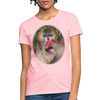 Mandrill Monkey Women's T-Shirt - pink