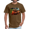 Chilling Kangaroo t-shirt - brown