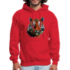 Tiger Men's Hoodie - red