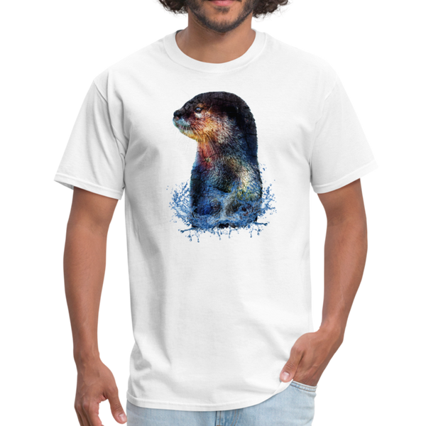 Otter t-shirt - Animal Face T-Shirt - white