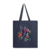 Flying Hummingbird Tote Bag - navy