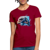 Dolphin Women's T-Shirt - dark red