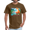 Fox with river t-shirt - Animal Face T-Shirt - brown