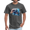 Dolphin t-shirt - Animal Face T-Shirt - heather black