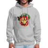 Tiger with Moon Hoodie - heather gray