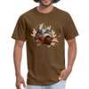 Mouse t-shirt - Animal Face T-Shirt - brown