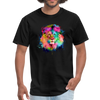 Lion with mane t-shirt - Animal Face T-Shirt - black