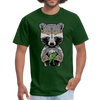 Racoon Men's T-Shirt - forest green