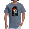Gorilla t-shirt - Animal Face T-Shirt - denim