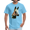 Donkey t-shirt - Animal Face T-Shirt - aquatic blue