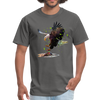 Eagle t-shirt - Animal Face T-Shirt - charcoal