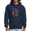 Flying Hummingbird Men's Hoodie - navy