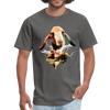 Goat t-shirt - Animal Face T-Shirt - charcoal