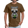 Racoon Men's T-Shirt - brown