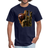 Sloth t-shirt - Animal Face T-Shirt - navy