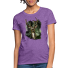 Deer with foliage Women's T-Shirt - purple heather