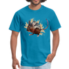 Mouse t-shirt - Animal Face T-Shirt - turquoise